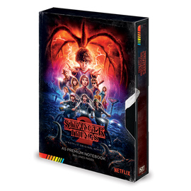 CUADERNO A5 PREMIUM STRANGER THINGS VHS SEASON 2