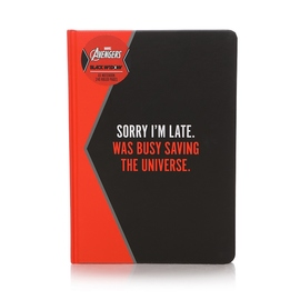 CUADERNO A5 MARVEL BLACK WIDOW