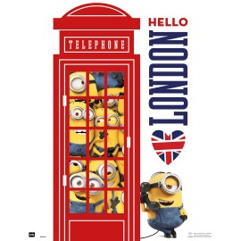 Mini Poster Minions Hello London