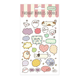 SET STICKERS THOUGHT BUBBLE A