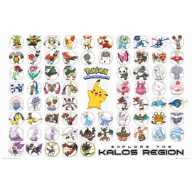 POSTER POKEMON KALOS REGION