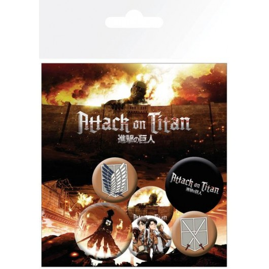 PACK CHAPAS ATTACK ON TITAN CHARACTERS