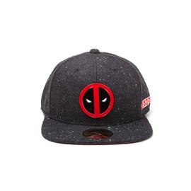 GORRA MARVEL DEADPOOL METAL LOGO