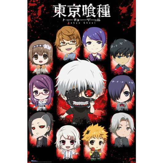 POSTER TOKYO GHOUL CHIBI CHARACTERS