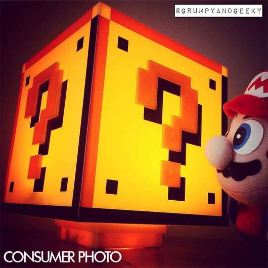 LAMPARA SUPER MARIO BROS QUESTION BLOCK
