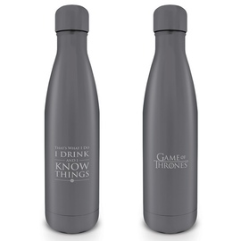 BOTELLA METALICA JUEGO DE TRONOS I DRINK AND I KNOW THINGS