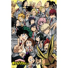 POSTER MY HERO ACADEMIA SCHOOL COMPILATION