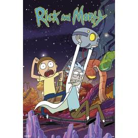 POSTER RICK AND MORTY PLANET