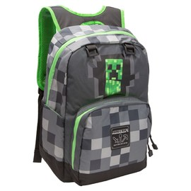 MOCHILA MINECRAFT CREEPY CREEPER GREY