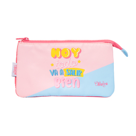 ESTUCHE TRIPLE CAROUGE BLUE & PINK