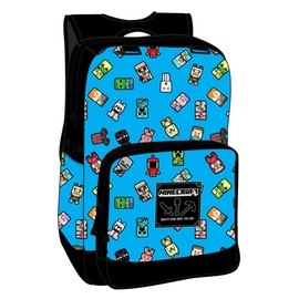 MOCHILA MINECRAFT BOBBLE MOBS BLUE