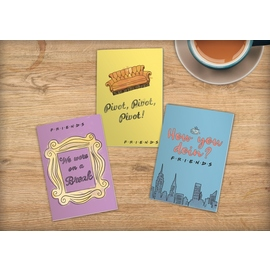 CUADERNOS A5 SET DE 3 FRIENDS