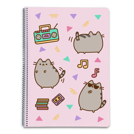 CUADERNO TAPA DURA A4 5X5 PUSHEEN THE CAT 2