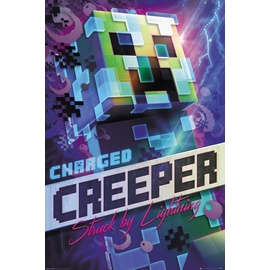 POSTER MINECRAFT CHARGED CREEPER