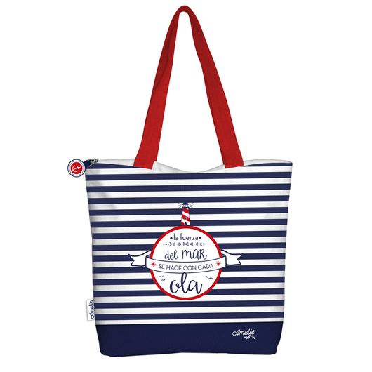 SHOPPING BAG AMELIE MARINERO