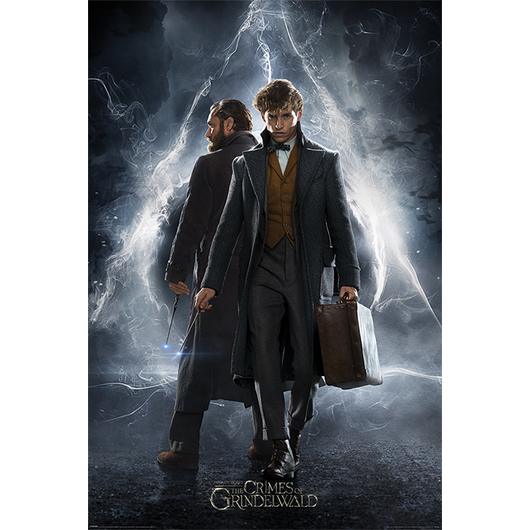 POSTER FANTASTIC BEASTS THE CRIMES OF GRINDELWALD NEWT & DUMBLEDORE