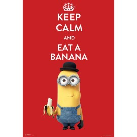 Maxi Poster Minions Keep Calm And Eat A Banana