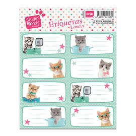 ETIQUETAS ADHESIVAS STUDIO PETS CAT CAMERA