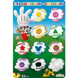 LAMINA EDUCATIVA FRANCES LES COULEURS MICKEY CLUB HOUSE