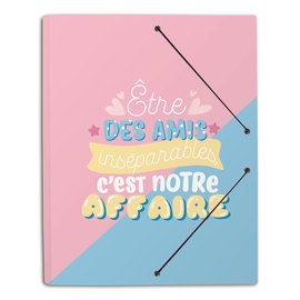 CARPETA GOMAS A4 POLIPROPILENO CAROUGE BLUE & PINK FR