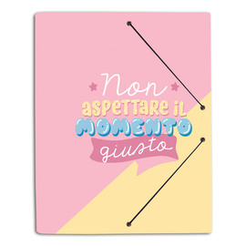 CARPETA GOMAS A4 POLIPROPILENO CAROUGE BLUE & PINK ITA