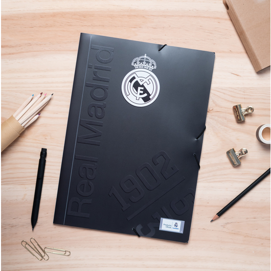 CARPETA GOMAS A4 POLIPROPILENO REAL MADRID