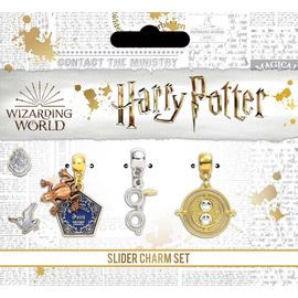 SET ABALORIOS HARRY POTTER CHOCOLATE FROG-GLASSES & LIGHTNING BOLT-TIME TURNER