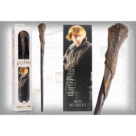 REPLICA HARRY POTTER VARITA MAGICA RON WEASLEY CON MARCAPAGINAS 3D