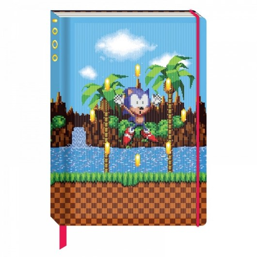 CUADERNO A5 3D LENTICULAR SONIC THE HEDGEHOG RINGS