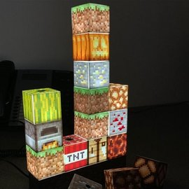 LAMPARA MINECRAFT BLOCK BUILDING