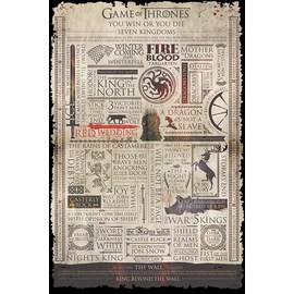 POSTER GAME OF THRONES (INFOGRAPHIC)