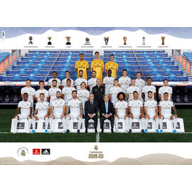 POSTER REAL MADRID 2019/2020 PLANTILLA (50X70)