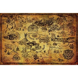 POSTER THE LEGEND OF ZELDA ( HYRULE MAP)