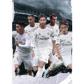 POSTAL A4 REAL MADRID 2019/2020 GRUPO