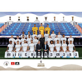 POSTAL A4 REAL MADRID 2019/2020 PLANTILLA
