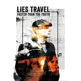 POSTER PEAKY BLINDERS LIES TRAVEL
