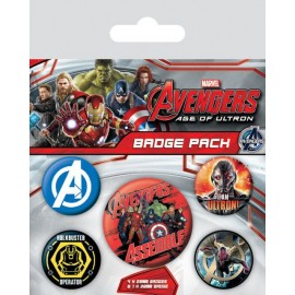 Pack Badges Avengers Age Of Ultron