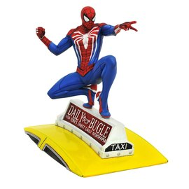 FIGURA GALLERY MARVEL SPIDERMAN ON TAXI STATUE