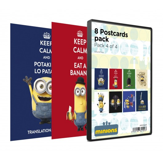PACK POSTALES MINIONS 8 UNIDADES