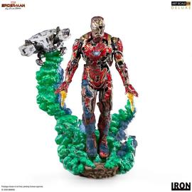FIGURA BDS ART SCALE 1/10 MARVEL SPIDER MAN IRON MAN ILLUSION