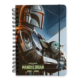 AGENDA ESCOLAR A5 SEMANA VISTA 2021/2022 KALENDA STAR WARS THE MANDALORIAN