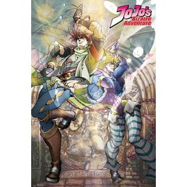 POSTER JOJO'S BIZARRE ADVENTURE JOSEPH AND CAESAR