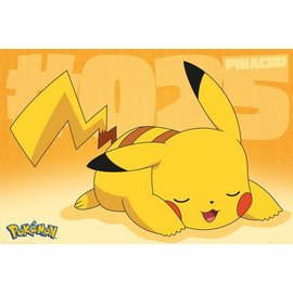 POSTER POKEMON PIKACHU ASLEEP