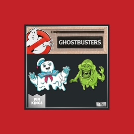 SET PINS LOS CAZAFANTASMAS STAY PUFT Y SLIMER