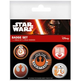 Pack De Chapas Star Wars Episode VII(Resistance)