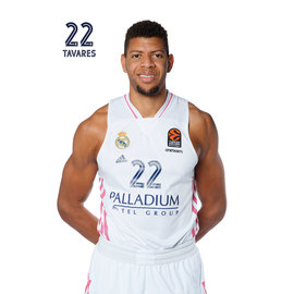 POSTAL REAL MADRID BALONCESTO 2020/2021 TAVARES