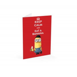 Greeting card Minons Keep Calm