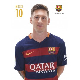 Postcards A4 FC Barcelona Lionel Messi