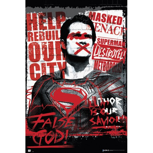 Maxi Poster Batman v Superman Falso Dios