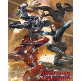 Mini Poster Captain America Iron man Team